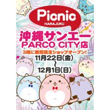 『原宿ピクニック POP UP SHOP』11/22(金)OPEN!