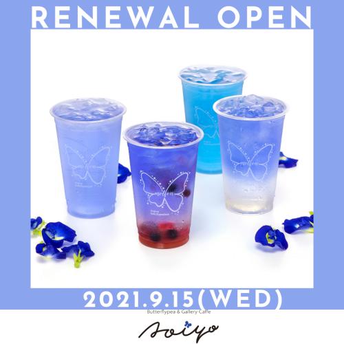 沖縄初のバタフライピーカフェ「AOIYO」9/15(水) RENEWAL OPEN!!