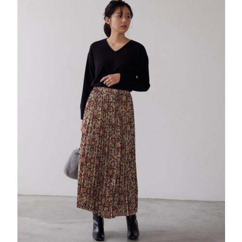 花柄プリーツスカートのご紹介です♪