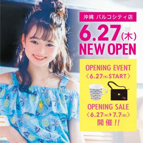 在JENNI冲绳PARCO城店今天做OPEN了!!